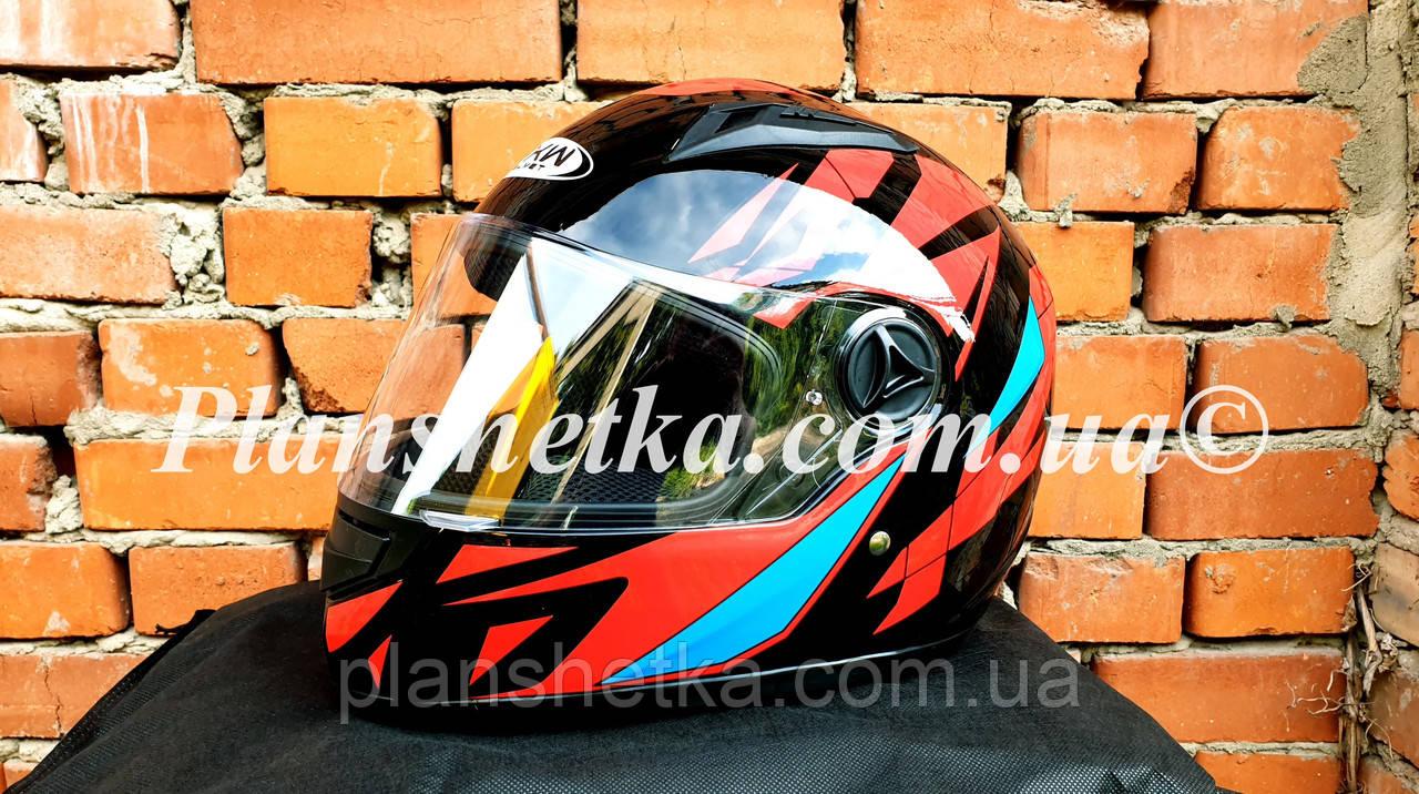 Шлем для мотоцикла Hel-Met 111 черный c красным S/M