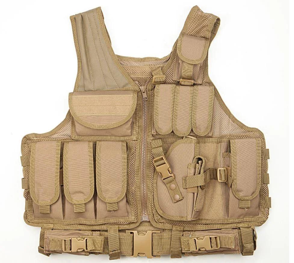 Жилет тактический военный A60, песочный