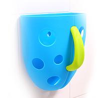 Чашка для хранения игрушек в ванной голубая