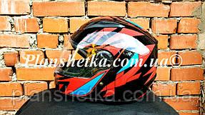 Шлем для мотоцикла Hel-Met 111 черный c красным S/M, фото 2