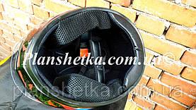 Шлем для мотоцикла Hel-Met 111 черный c красным S/M, фото 3