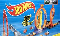 Трек гоночный с мертвыми петлями Hot Wheels 9988-66: 2 машинки в комплекте (реплика)