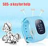 Детские умные часы Smart Watch GPS трекер Q50/G36 Light Blue, фото 3