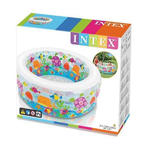 Детский надувной бассейн Аквариум Intex 58480