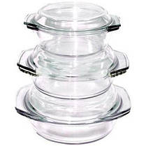 Набор стеклянных термокастрюль Stenson MS-0081