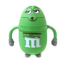 "Бутылка для воды и напитков Stenson""M&Ms"" R84902, небьющаяся, Зелёная"