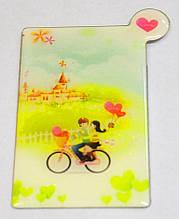 Карманное зеркальце Пара на велосипеде