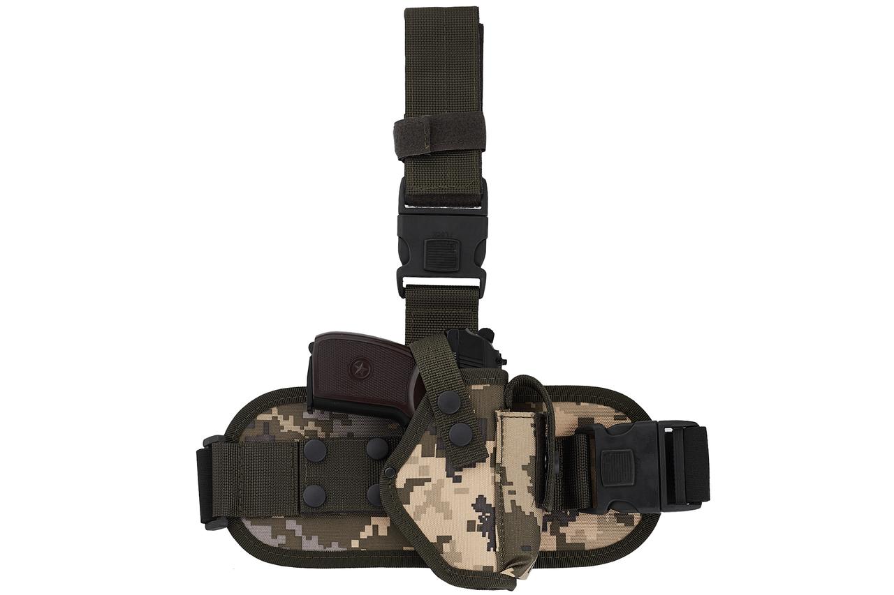 Кобура ПМ набедренная с платформой (oxford 600d, пиксель)