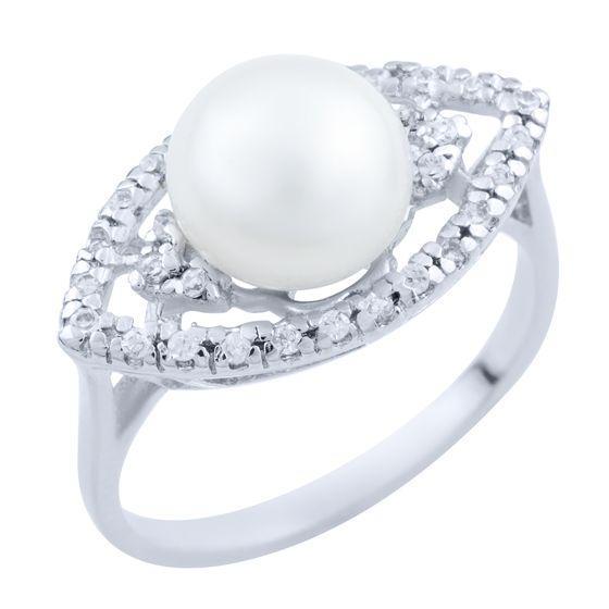 Серебряное кольцо DreamJewelry с натуральным жемчугом (1718803) 18 размер