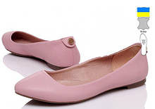 Балетки кожаные  женские Prime-Opt-IT-Style-5012-7-pink