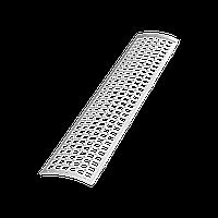 Решетка желоба Технониколь, Белая (0.6 м) ПВХ D125/82 мм