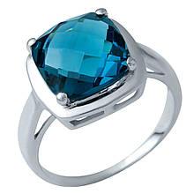 Серебряное кольцо DreamJewelry с натуральным топазом Лондон Блю (1937563) 17 размер