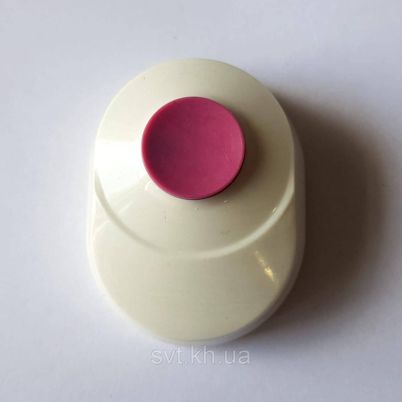 Кнопка звонка - овал белая с красной кнопкой