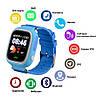 Smart часы детские с GPS Q90, голубые, фото 5