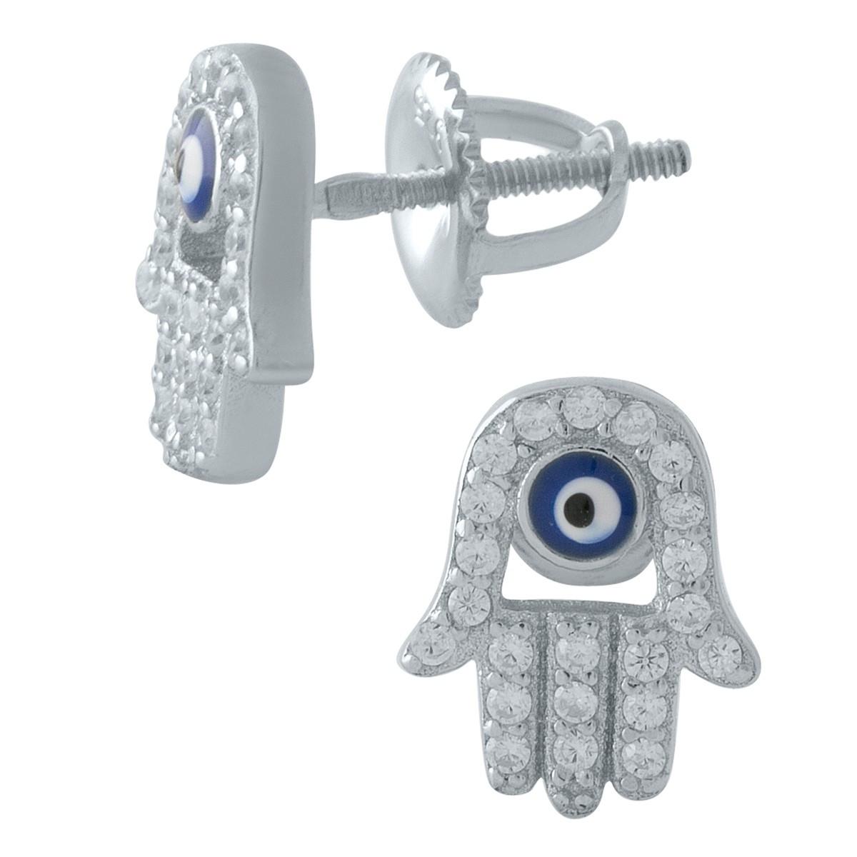 Серебряные серьги DreamJewelry с емаллю, фианитами (1974773)