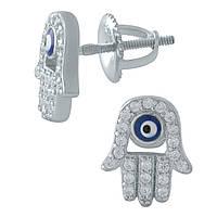 Серебряные серьги DreamJewelry с емаллю, фианитами (1974773), фото 1