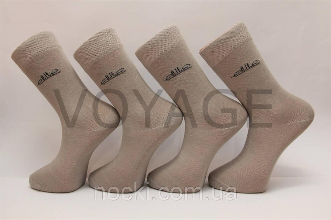 Мужские носки высокие стрейчевые Мод.600 27 светло серый