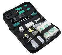 Набор сетевика для обжимки, тестирования и монтажа витой пары в чехле 7186