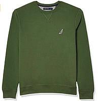 Кофта трикотажная утепленная Nautica Mens Classic Fit Crewneck Fleece Pullover B07T5MJNCZ зеленая