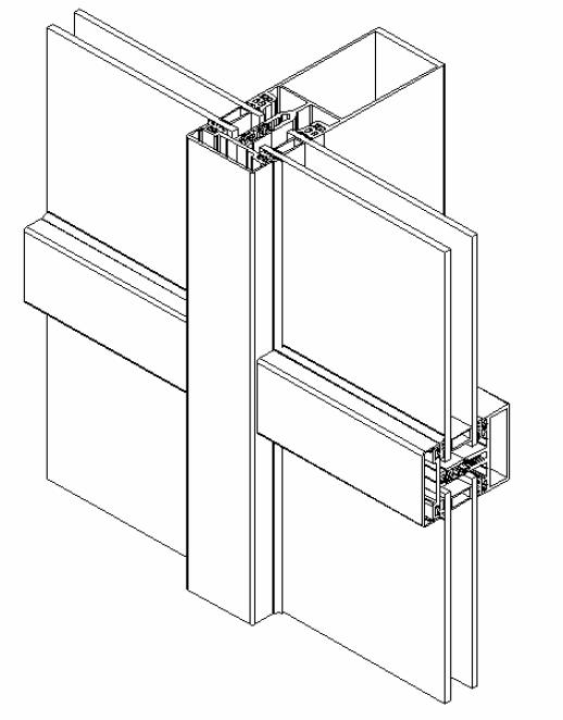 Стоечном-ригельная фасадная система ТЕКНО 50 Алюмаш