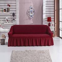 Чехол на диван трехместный, Турция Бордо
