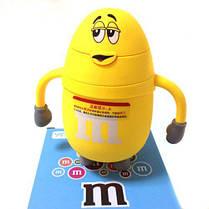"Бутылка для воды и напитков Stenson""M&Ms"" R84902, небьющаяся, Желтая"
