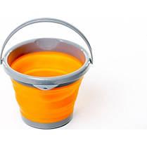 Ведро складное силиконовое Tramp 5л. TRC-092, оранжевое