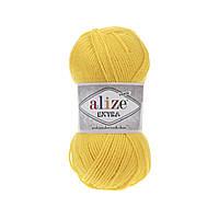 Пряжа Alize Extra (Ализе Екстра) 10% шерсть, желтый 216