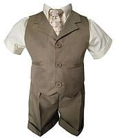 Нарядный костюм с шортиками на мальчика от 0 до 7 лет