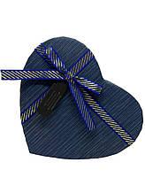 Подарочная коробочка в форме сердца. Синяя.