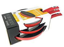Набор сковородок с мраморным покрытием Royalty Line RL-FM3 3 шт, красный