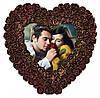 Подарок на 14 февраля. Шоколадное фото в виде сердца