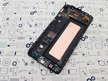 Уценка. Дисплей Samsung N920C модуль черный Сервисный оригинал с разборки