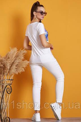 Женская удлиненная футболка с принтом (1212 svt), фото 2