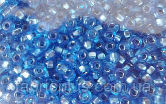 Бисер 10/0 блестящий № 08236 синий светлый  50 г.
