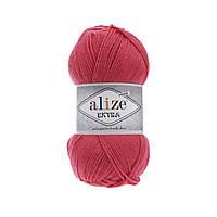 Пряжа Alize Extra (Ализе Екстра) 10% шерсть, коралловый 661