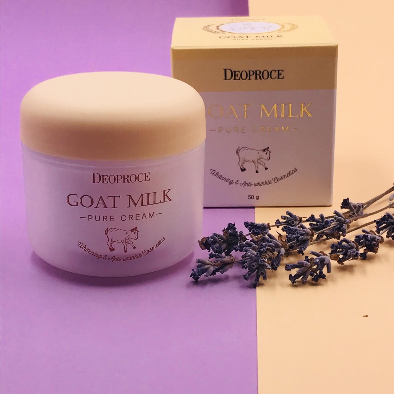 Deoproce Нежный крем с козьим молоком Goat Milk Pure Cream