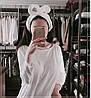Домашняя повязка на голову белая, фото 2
