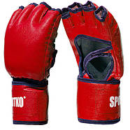 Рукавички для тхеквондо з відкритими пальцями SPORTKO (кожвініл) (M-XL) (Синій, Червоний, Чорний), фото 2