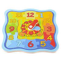 Деревянная игрушка часы пазл T22-048