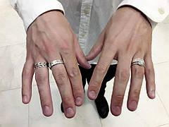 Стильные мужские позолоченные кольца