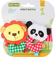 Мягкий браслет погремушка Baby team 8504,набор 2 шт,WRIST RATTLE BABY TEAM, фото 1