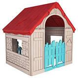 Будиночок FOLDABLE PLAY HOUSE червоно-бежевий-синій (Keter), фото 7