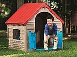 Будиночок FOLDABLE PLAY HOUSE червоно-бежевий-синій (Keter), фото 9