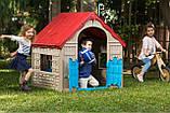 Будиночок FOLDABLE PLAY HOUSE червоно-бежевий-синій (Keter), фото 8
