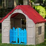 Будиночок FOLDABLE PLAY HOUSE червоно-бежевий-синій (Keter), фото 6
