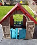 Будиночок FOLDABLE PLAY HOUSE червоно-бежевий-синій (Keter), фото 5