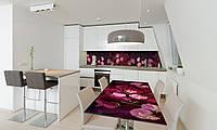 Наклейка на стол Zatarga «Цветочное настроение» 600х1200мм для домов, квартир, столов, кофейн, кафе