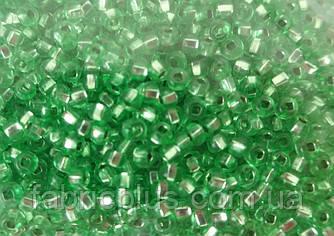 Бисер 10/0 блестящий № 08256 зеленый светлый  50 г.