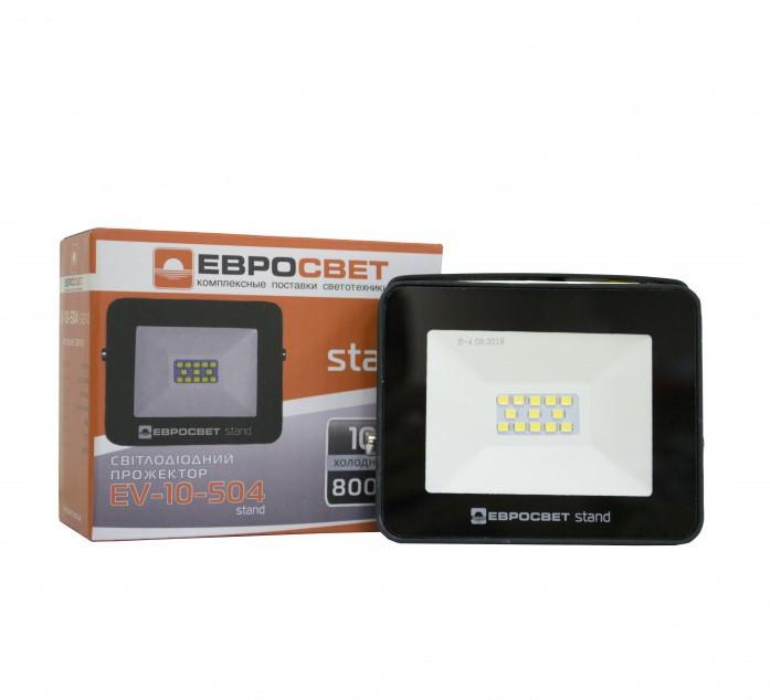 Прожектор светодиодный Евросвет EV-10-504 STAND 10Вт 6400К 800Лм (000040533)